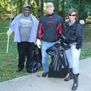 (L to R) Bloomer Williams, Mike Bowers and Janice Bowers volunteer to clean up along the Heritage Trail during the 2011 Ocmulgee Alive!