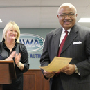 Sam Hart (right) is officially sworn into office as the new Chairman of the Macon Water Authority.