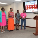 Guy Boyle (far right) recognizes the Finance Department employees responsible for the Authority receiving the Certificate of Achievement for Excellence in Financial Reporting.