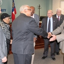 Chairman Sam Hart and other MWA Board Members congratulate Ralph Hardy for his 49 years of service at the Authority.