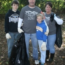 (L to R) Cole, Gary, Toni, and Kim Powell volunteer their time as a family to help with the 2011 Ocmulgee Alive! river cleanup.