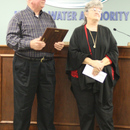 The MWA's Herman Wilburn, retiring after 31 years of service to the Authority and its customers, and his wife Peggy.