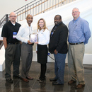 MWA staff from the Amerson Water Treatment Plant accept the GAWP Safety Award for the facility.