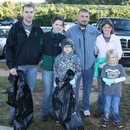 (L to R, back row) Justin Halbeisen, Melissa Morin, Russell Williams, Lindsey Williams, and (Front, L to R) Jordan Halbeisen and Maison Williams are part of the volunteers from YKK helping out during the 2011 Ocmulgee Alive!