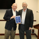 Mark Wyzalek (left), MWA Director of Laboratory and Environmental Compliance, accepts the Public Education event of the year award from Jack Dozier, Executive Director of the Georgia Association of Water Professionals.