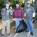 (L to R) 2011 Ocmulgee Alive! volunteers included Chad Nasworthy, Tyler Myers, and Charles Myers.